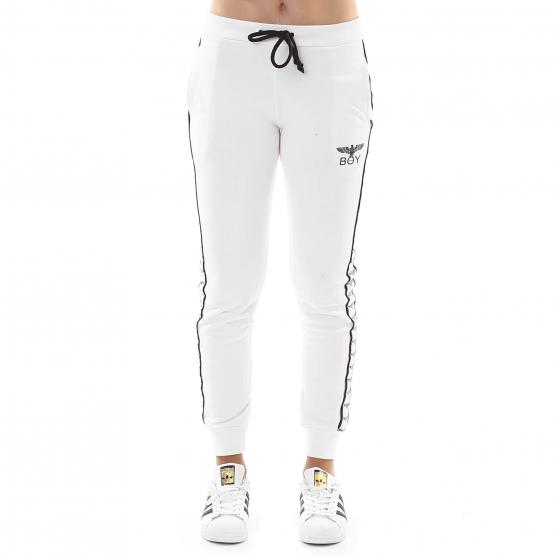 BOY LONDON PANTALONE FELPA  CON BANDA BIANCO