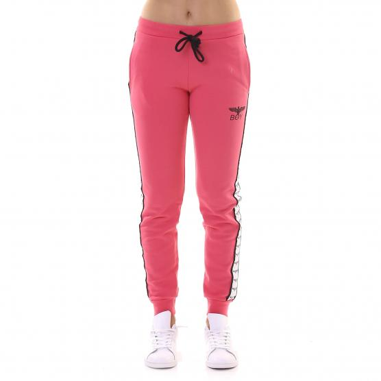 BOY LONDON PANTALONE FELPA  CON BANDA FRAGOLA