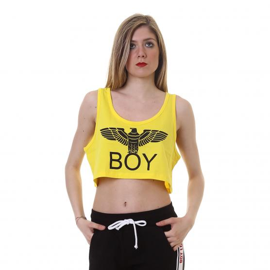BOY LONDON TOP JERSEY +STAMPA GIALLO