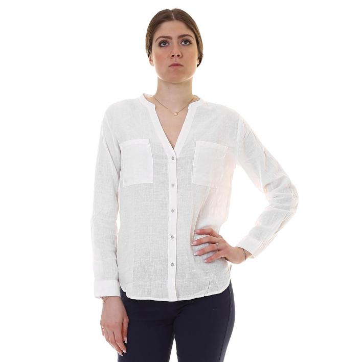 BUNF COTTON LINEN SHIRT FRAU
