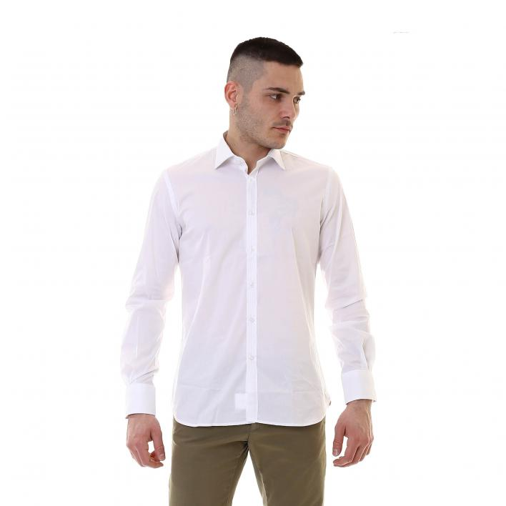 BUNF CAMICIA ML COTONE STRETCH