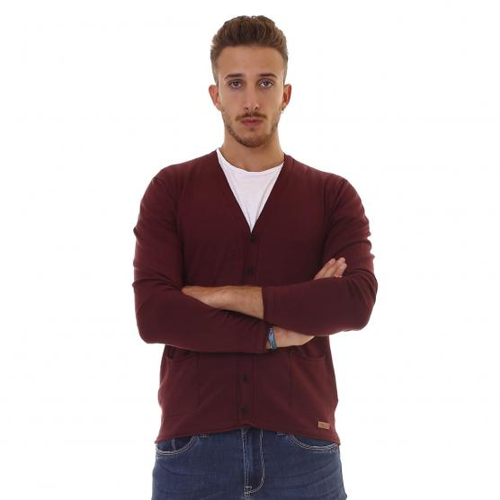BUNF CARDIGAN BOTTONI 700 BORDEAUX