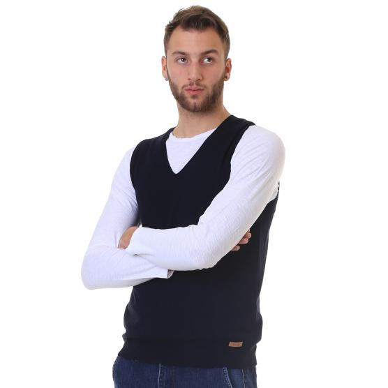 BUNF MEN'S STRETCH VEST BLUE