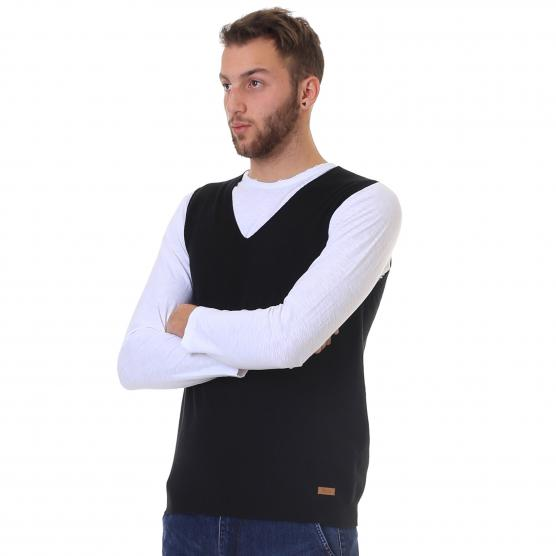 BUNF MEN'S STRETCH VEST BLACK