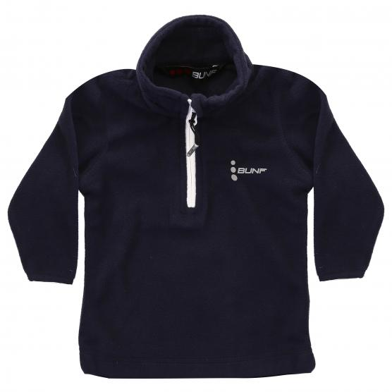 BUNF JUNIOR  HALF ZIP SHIRT MICROFLEECE 160GSM