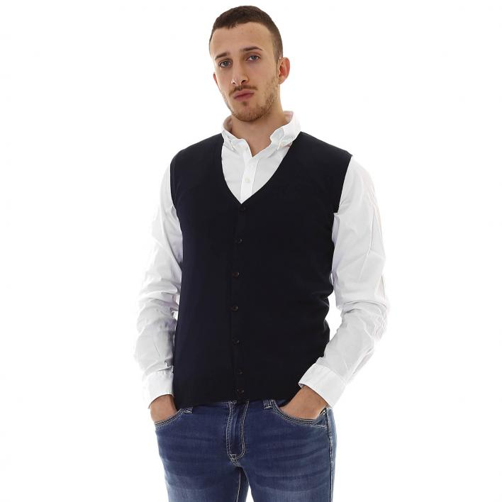 BUNF MEN'S SWEATER GILET BUTTONS