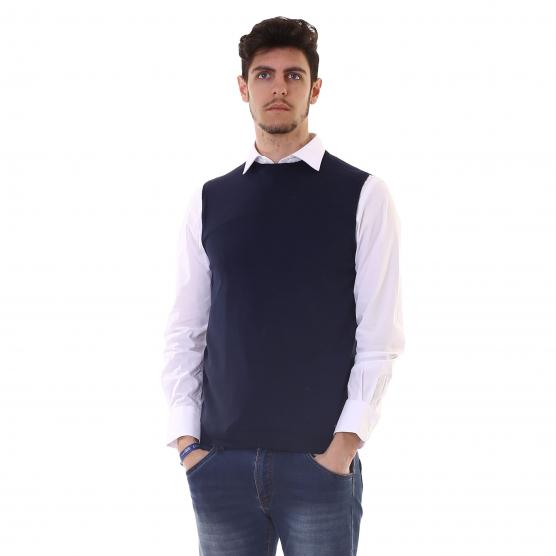 BUNF VEST JERSEY MEN'S STRETCH COTTON BLUE