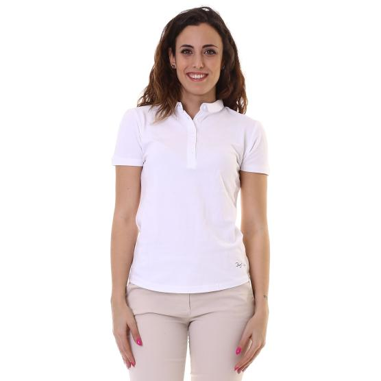 BUNF POLO WOMAN  STRETCH WHITE