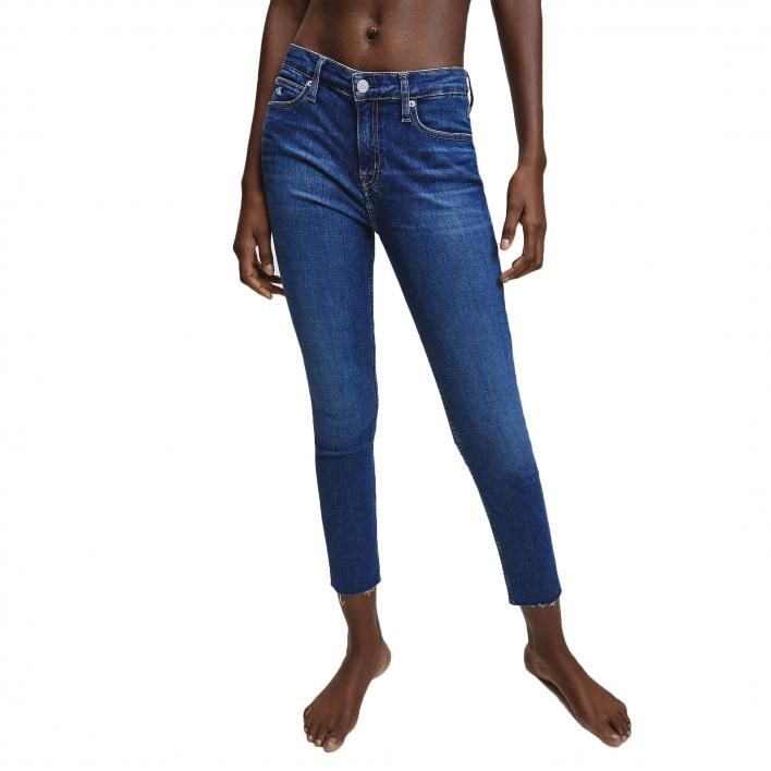 CALVIN KLEIN JEANS 011 MID RISE SKINNY ANKLE DK.BL L.30