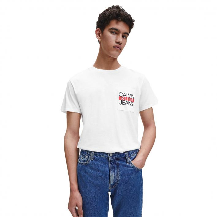 CALVIN KLEIN JEANS COLORBLOCK POCKET TEE