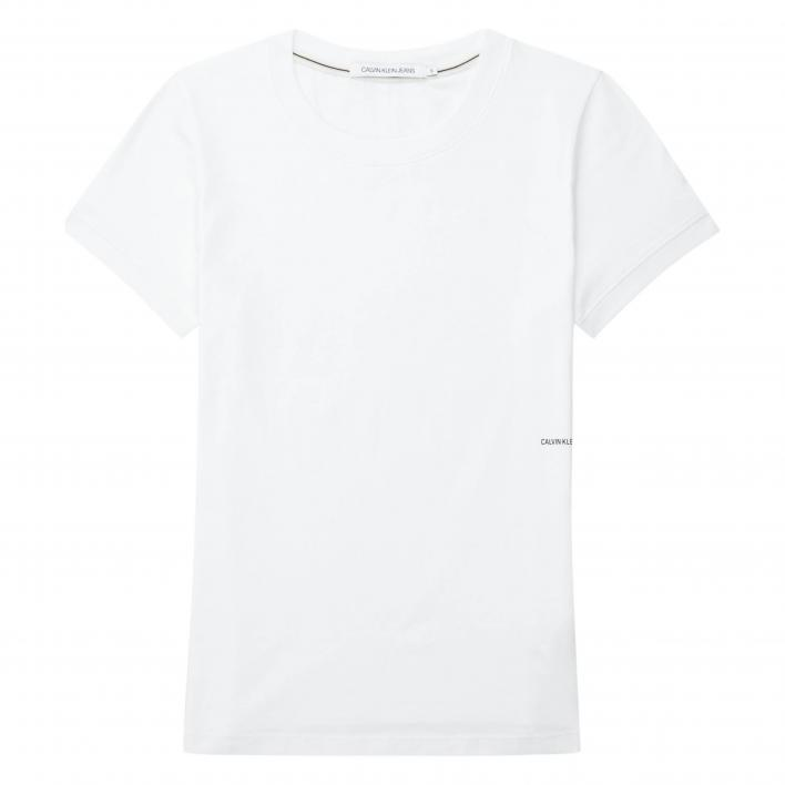 CALVIN KLEIN JEANS MICRO BRANDING OFF PLACED TEE
