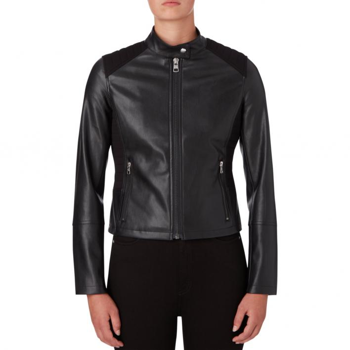 CALVIN KLEIN JEANS MIX MEDIA FAUX LEATHER MOTO