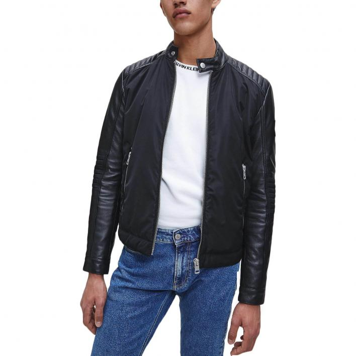 CALVIN KLEIN JEANS MIXED MEDIA LEATHER