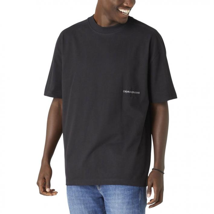 CALVIN KLEIN JEANS OFF PLACED OVERSIZED ICON TEE