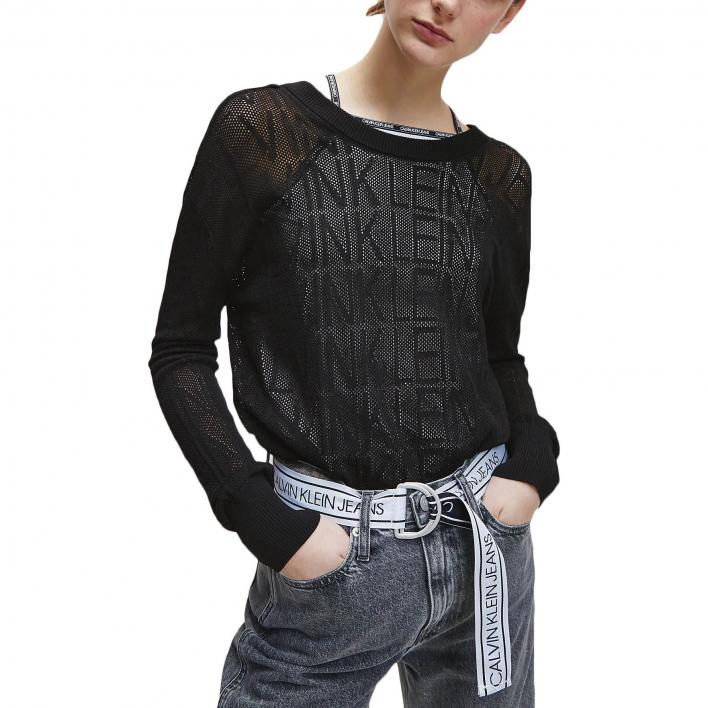 CALVIN KLEIN JEANS RALAXED MESH SWEATER