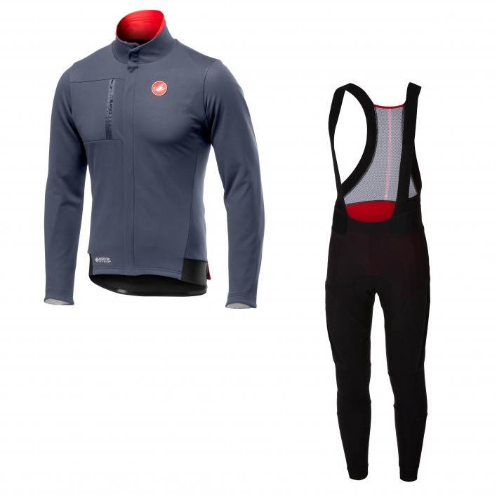 CASTELLI Double Espresso Jacket + 2 Bibtight