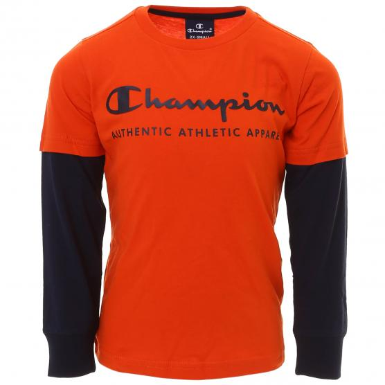 CHAMPION LONG SLEEVE CREWNECK T-SHIRT OS014