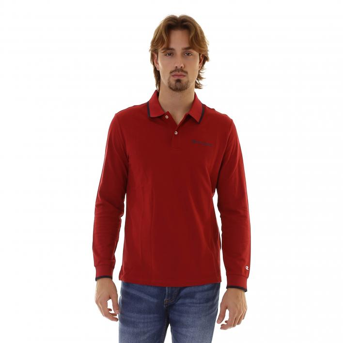 CHAMPION LONG SLEEVE POLO T-SHIRT