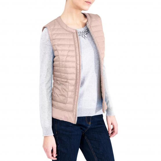 CONTE OF FLORENCE CHANNEL QUILTED VEST CAPO SPALLA