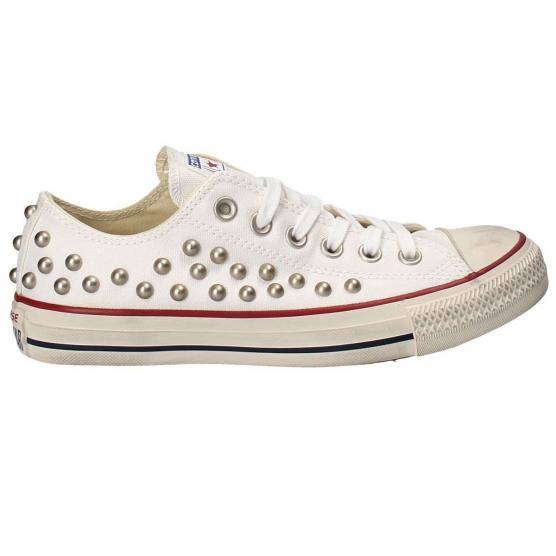 CONVERSE ALL STAR CTS OX STUDS WHITE/GARNET/NAVY