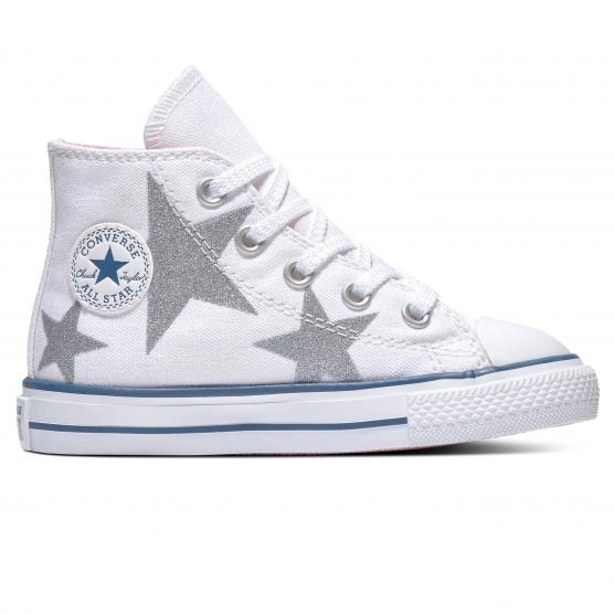 CONVERSE ALL STAR HI - (TD) WHITE/CHERRY/OPTIC W