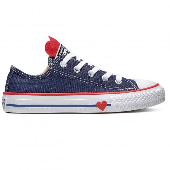 CONVERSE ALL STAR OX - (PS) NAVY/ENAMEL RED/BLUE N