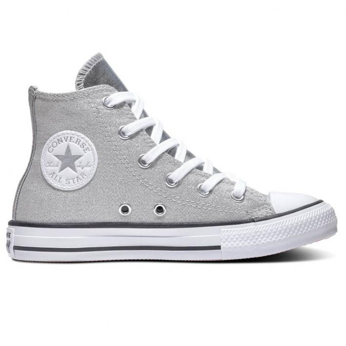 CONVERSE ALL STAR SIDE ZIP HI SILVER/WHITE/MOU
