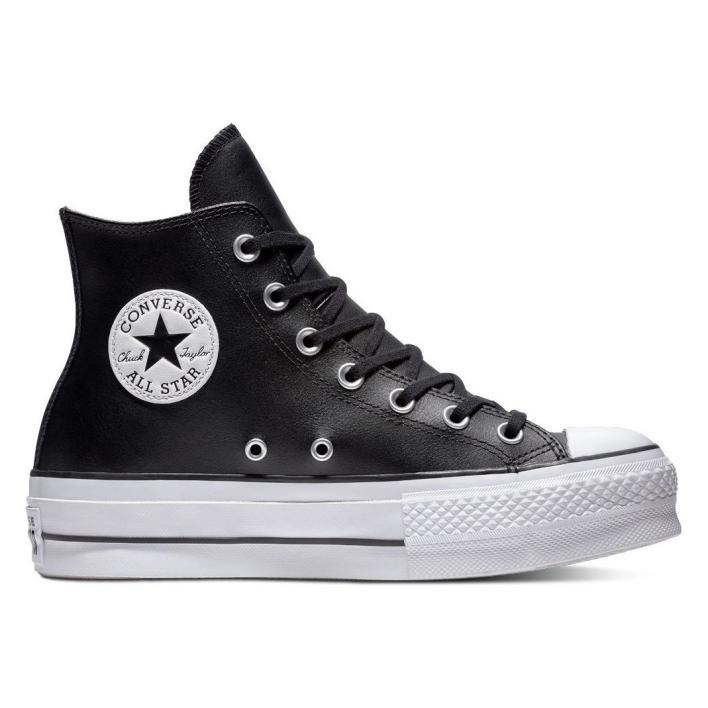 CONVERSE CHUCK TAYLOR ALL STAR PLATFORM CLEAN LEATHER HIGH-TOP