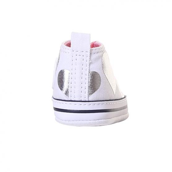 CONVERSE FIRST STAR PRINT WHITE/HOT PINK/INSIGNIA