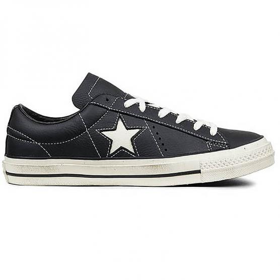 CONVERSE ONE STAR DISTRESSED OX BLACK/WHITE/EGRET