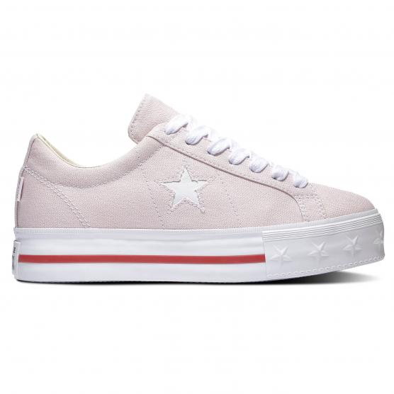 CONVERSE ONE STAR PLATFORM OX BARELY PINK/FLORAL