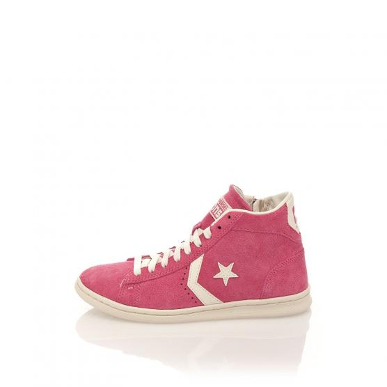 CONVERSE PRO LEATHER LP MID SUEDE ZIP PALE PINK/OFF