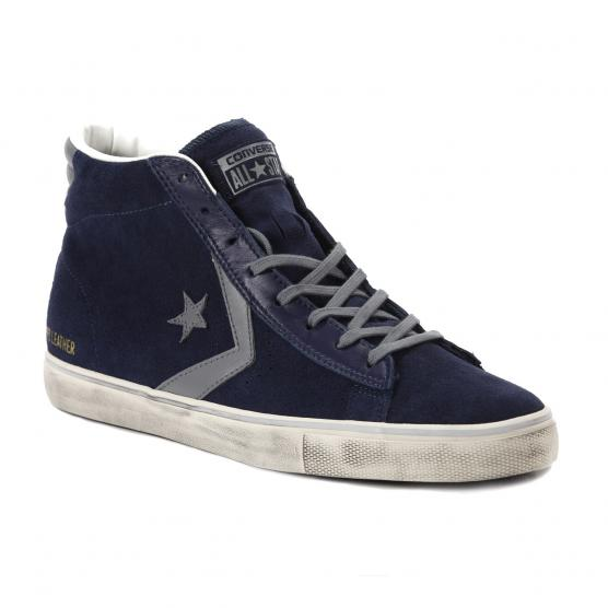 CONVERSE PRO LEATHER VULC DISTRESSED MID NAVY
