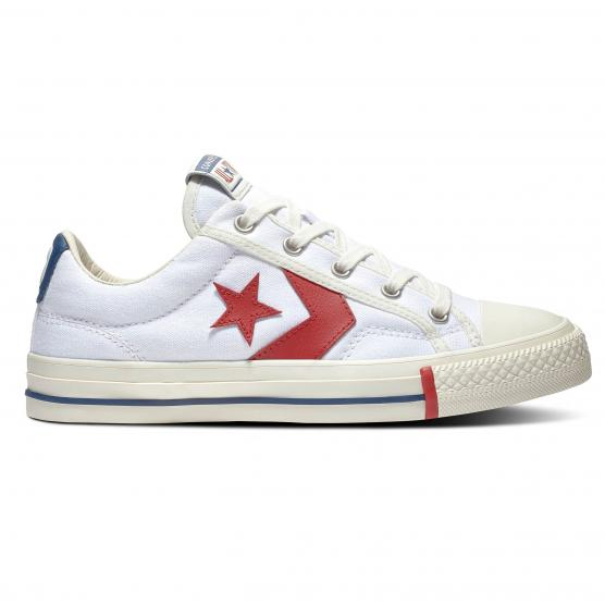 CONVERSE STAR PLAYER OX WHITE/GYM RED/OPTIC WHITE