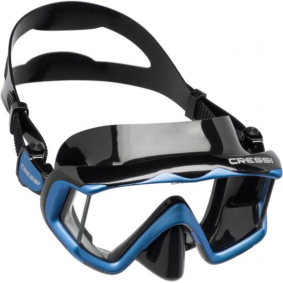 CRESSI LIBERTY TRISIDE MASK SIL BLACK/FRAME BLUE
