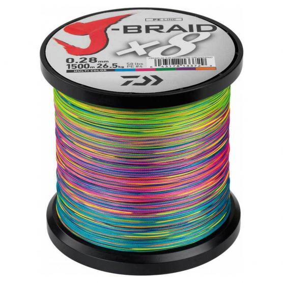 DAIWA J-BRAID X8 1500 MT 0.35MM MULTICOLOR