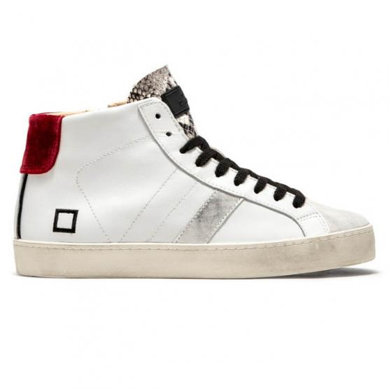 D.A.T.E. HILL HIGH CALF W WHITE-RED