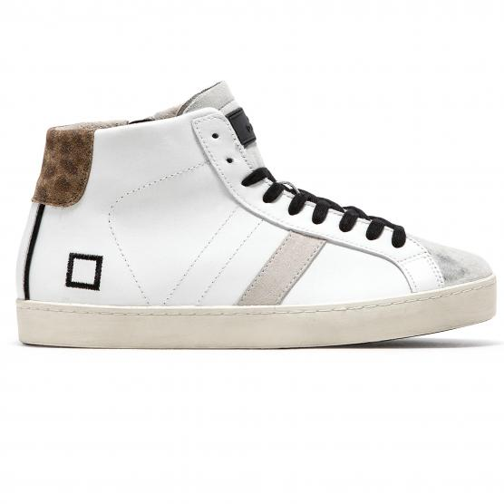 D.A.T.E HILL HIGH POP WHITE/LEOPARD