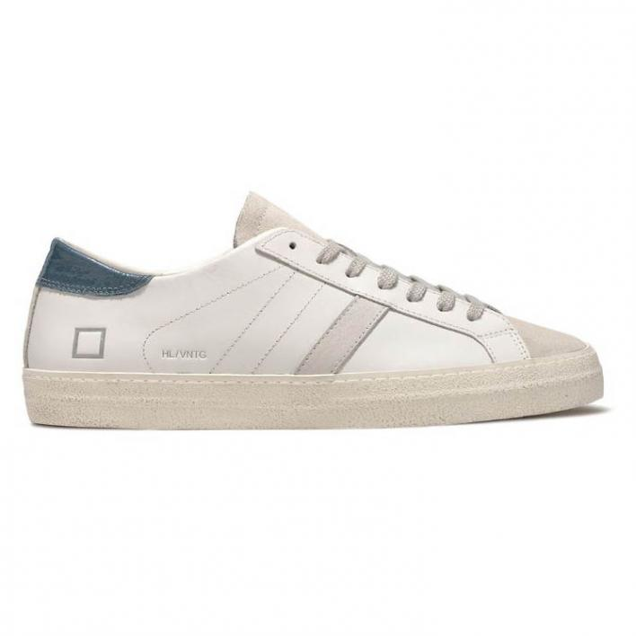 D.A.T.E. HILL LOW CALF VINTAGE WHITE BLUE