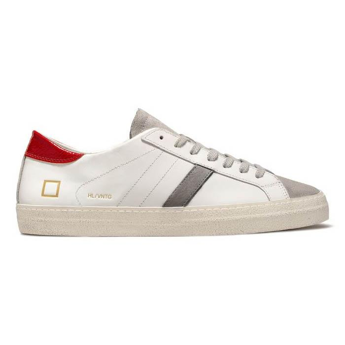 D.A.T.E. HILL LOW CALF VINTAGE WHITE RED