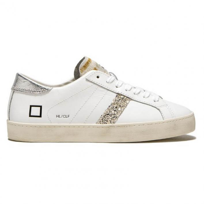 D.A.T.E. HILL LOW CALF W WHITE-SILVER