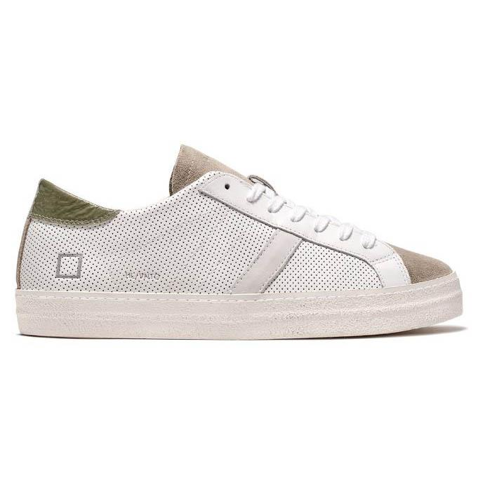 D.A.T.E. HILL LOW VINTAGE PERFORATED WHITE-GREEN