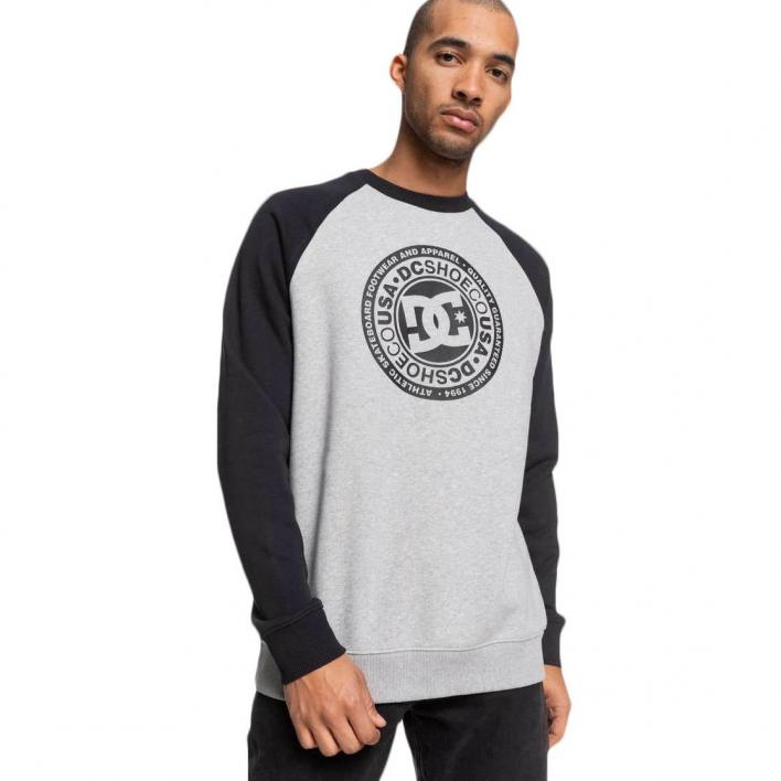 DC CIRCLE STAR CREW RAGLAN