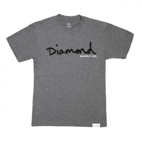 DIAMOND OG SCRIPT TEE - CORE HEATHER