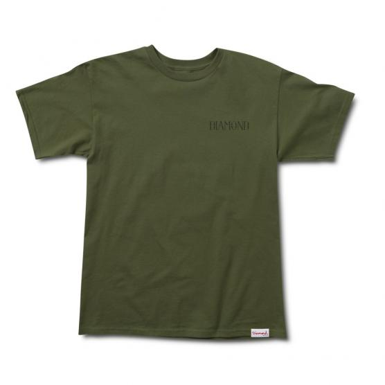 DIAMOND SPLIT TEE MILITARY