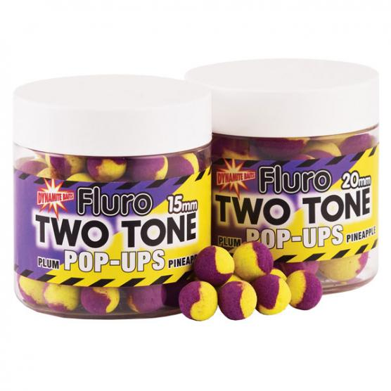 DYNAMITE BAITS FLUORO POP-UPS PLUM PINEAPPLE 20MM
