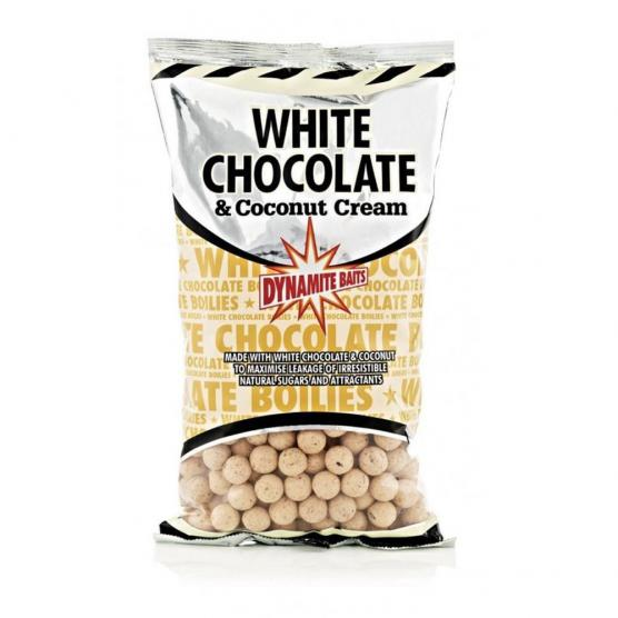 DYNAMITE BAITS WHITE CHOCOLATE E COCONUT CREAM BOILIES 15MM