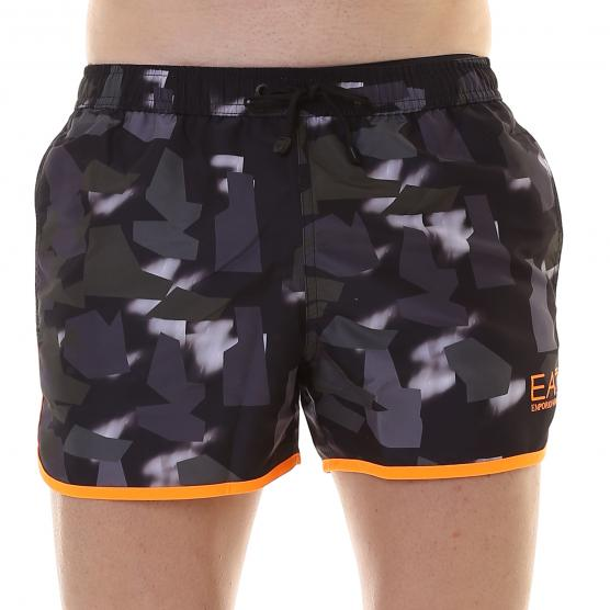 EA7 SEA WORLD BW TRAINING M SHORTS