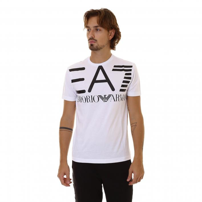 EA7 TRAIN LOGO SERIES M OVERSIZE LOGO TEE