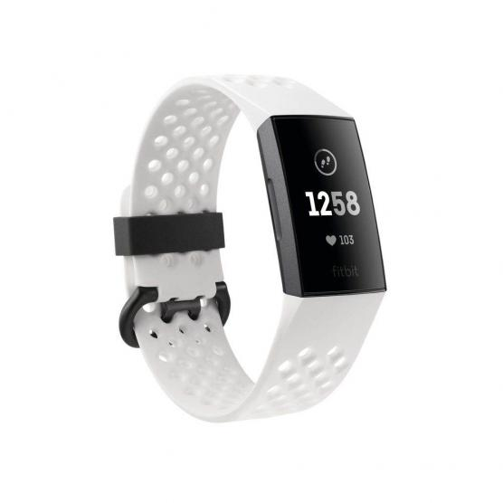 FITBIT CHARGE 3 GRAPHITE/WHITE SILICONE